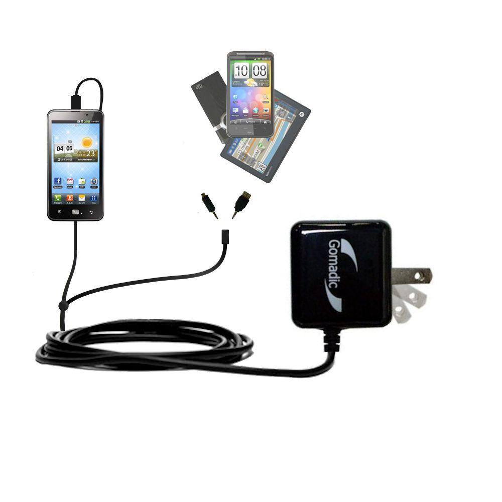 Double Wall Home Charger with tips including compatible with the LG Revolution 2