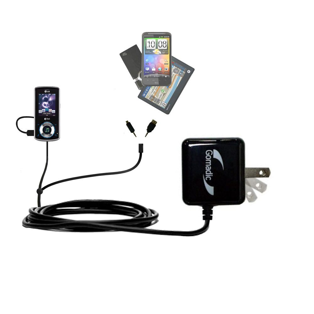 Double Wall Home Charger with tips including compatible with the LG Rhythm