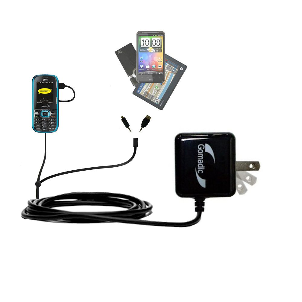 Double Wall Home Charger with tips including compatible with the LG Rumor 2