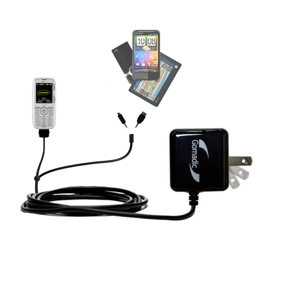 Double Wall Home Charger with tips including compatible with the LG Rumor