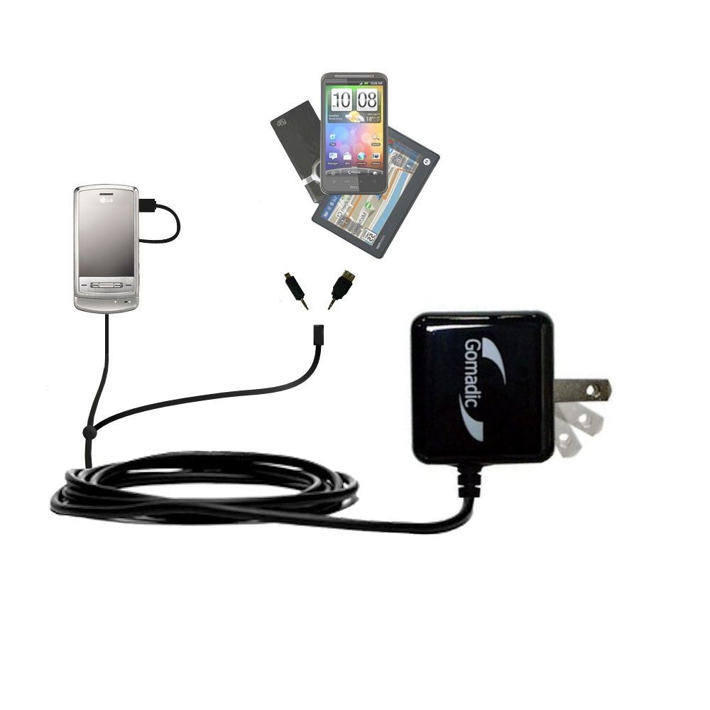 Double Wall Home Charger with tips including compatible with the LG Shine