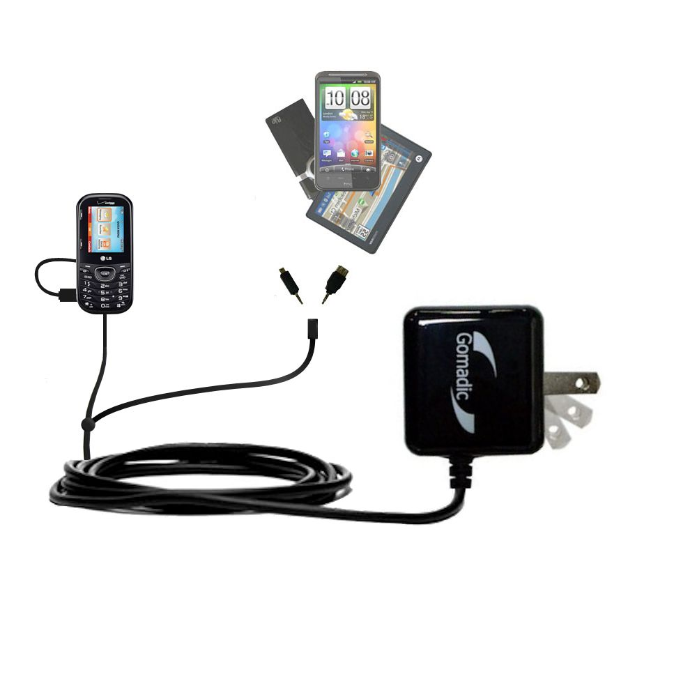 Double Wall Home Charger with tips including compatible with the LG UN251