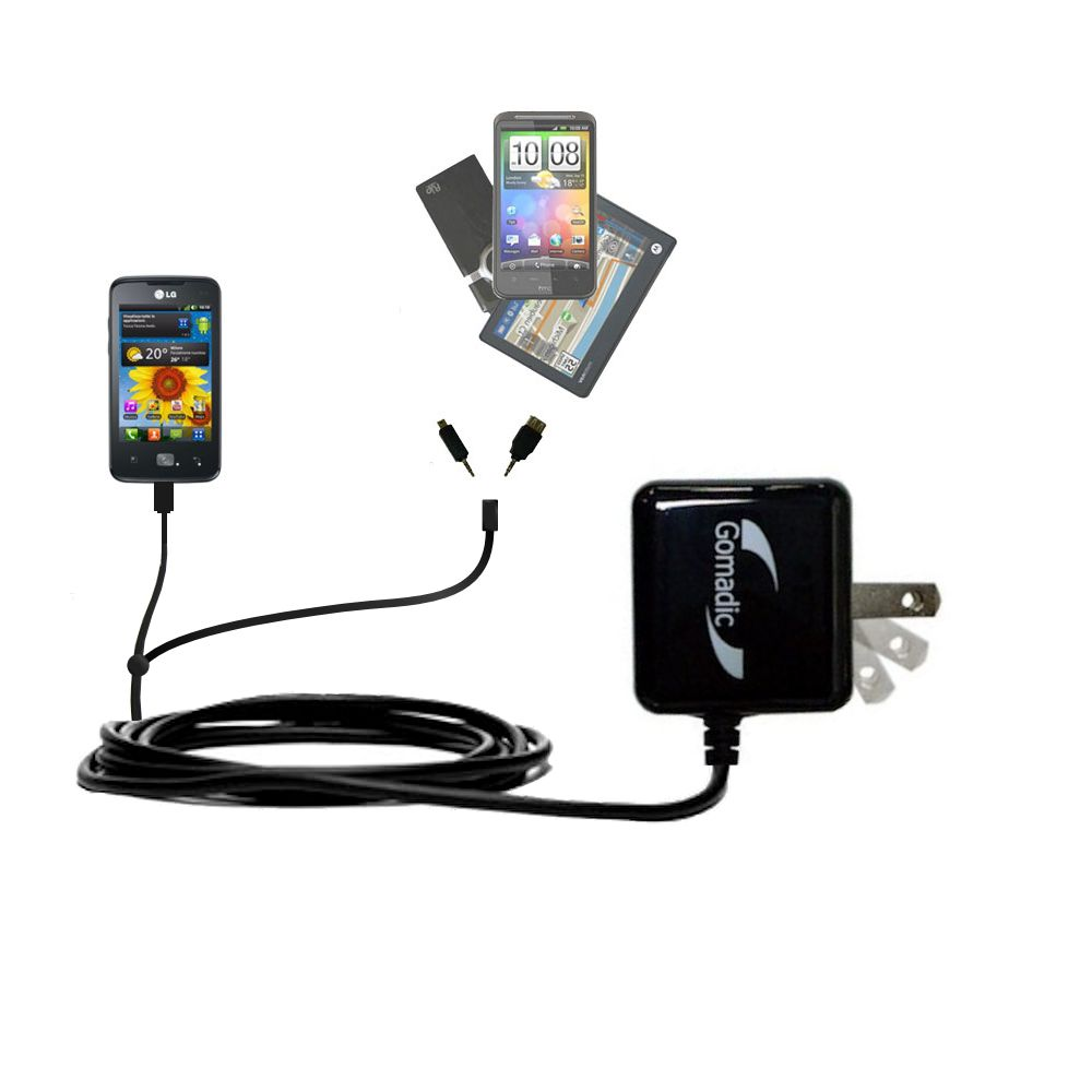 Double Wall Home Charger with tips including compatible with the LG Univa