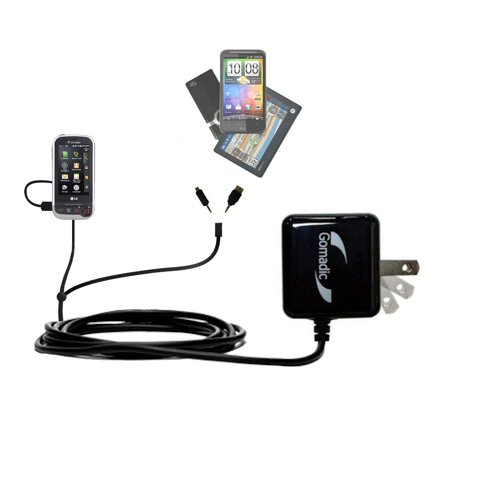 Double Wall Home Charger with tips including compatible with the LG UX840