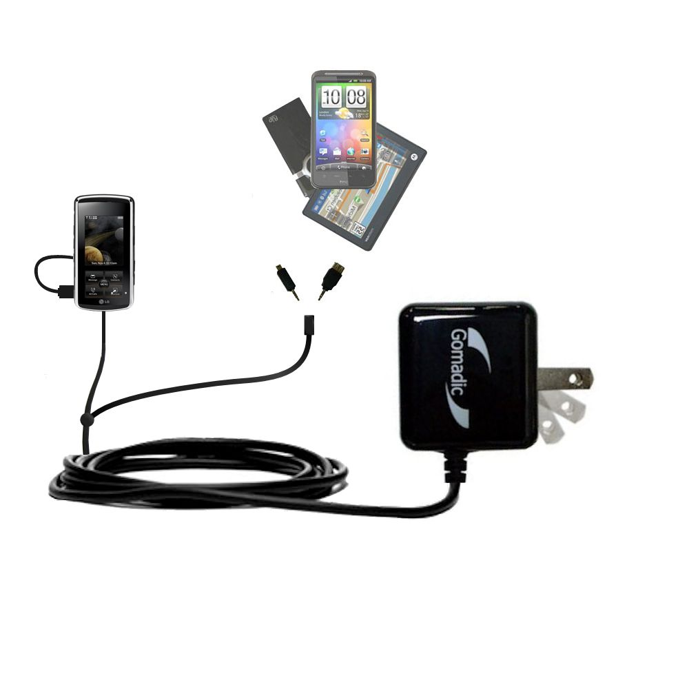 Double Wall Home Charger with tips including compatible with the LG Venus