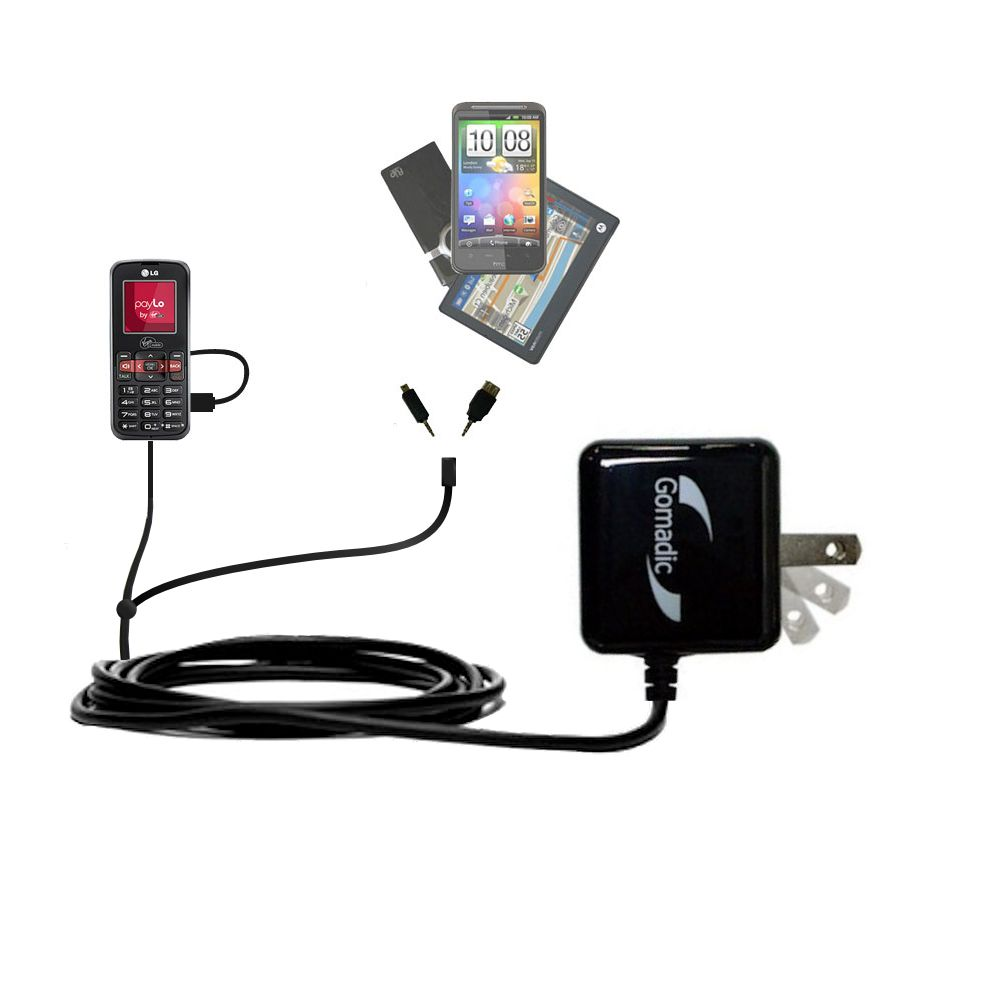 Double Wall Home Charger with tips including compatible with the LG VM101