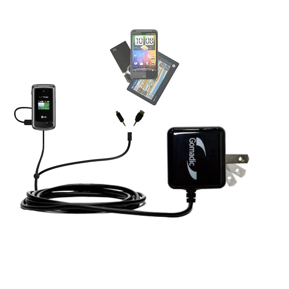 Double Wall Home Charger with tips including compatible with the LG VX5500