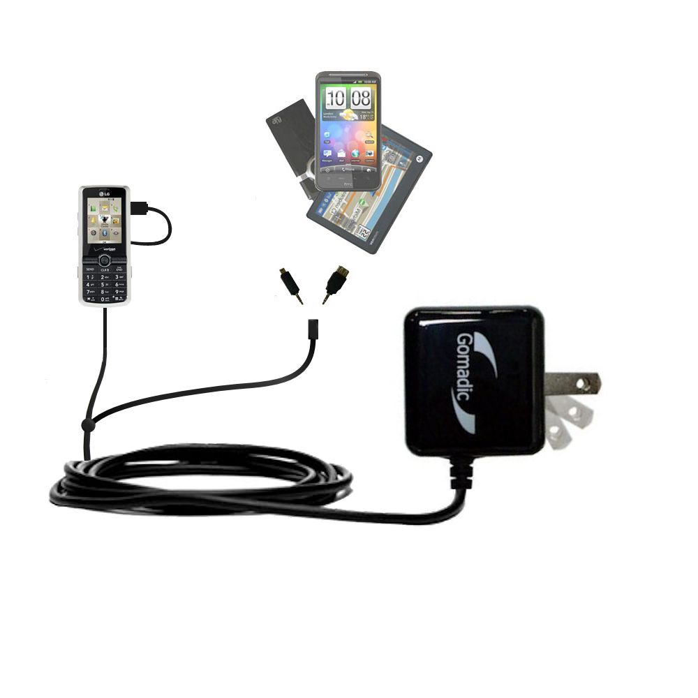 Double Wall Home Charger with tips including compatible with the LG VX7100