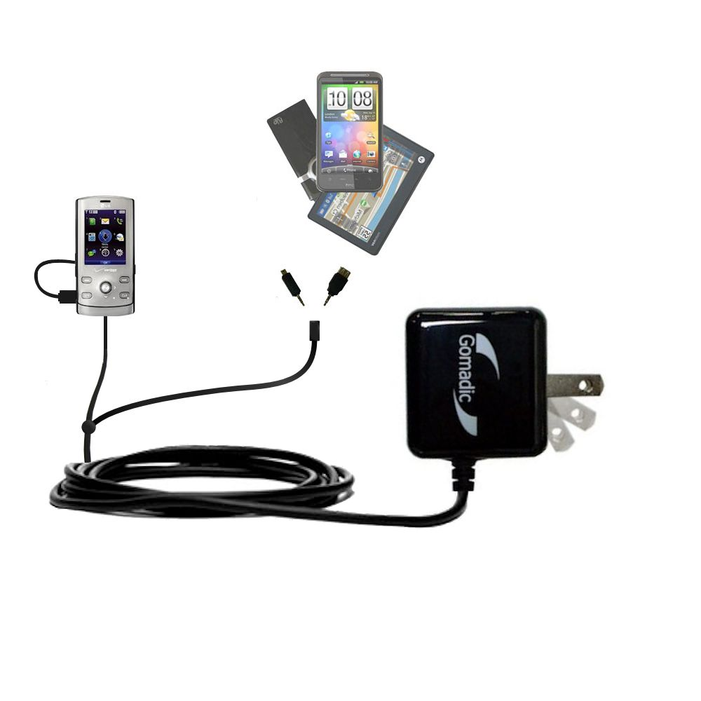 Double Wall Home Charger with tips including compatible with the LG VX8610