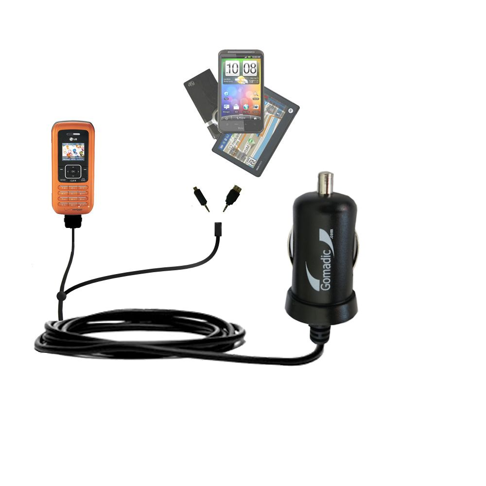 mini Double Car Charger with tips including compatible with the LG VX9900
