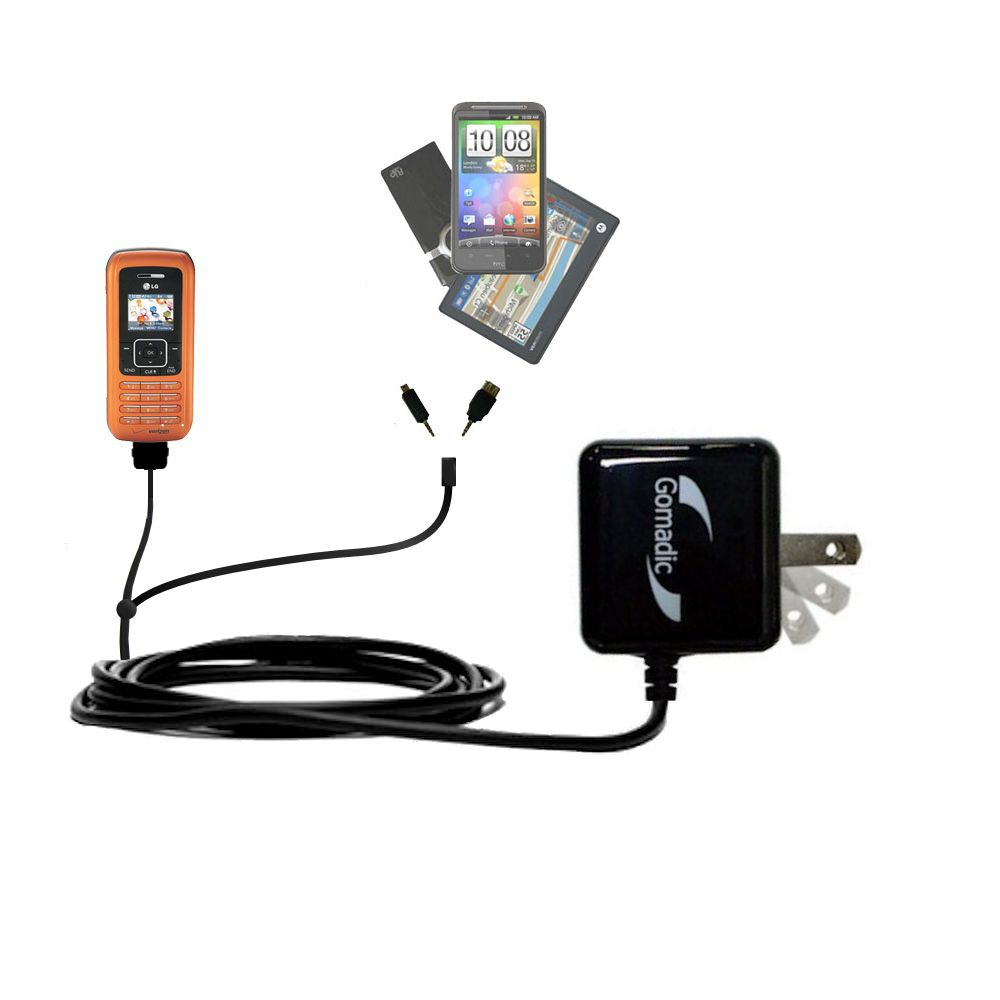 Double Wall Home Charger with tips including compatible with the LG VX9900