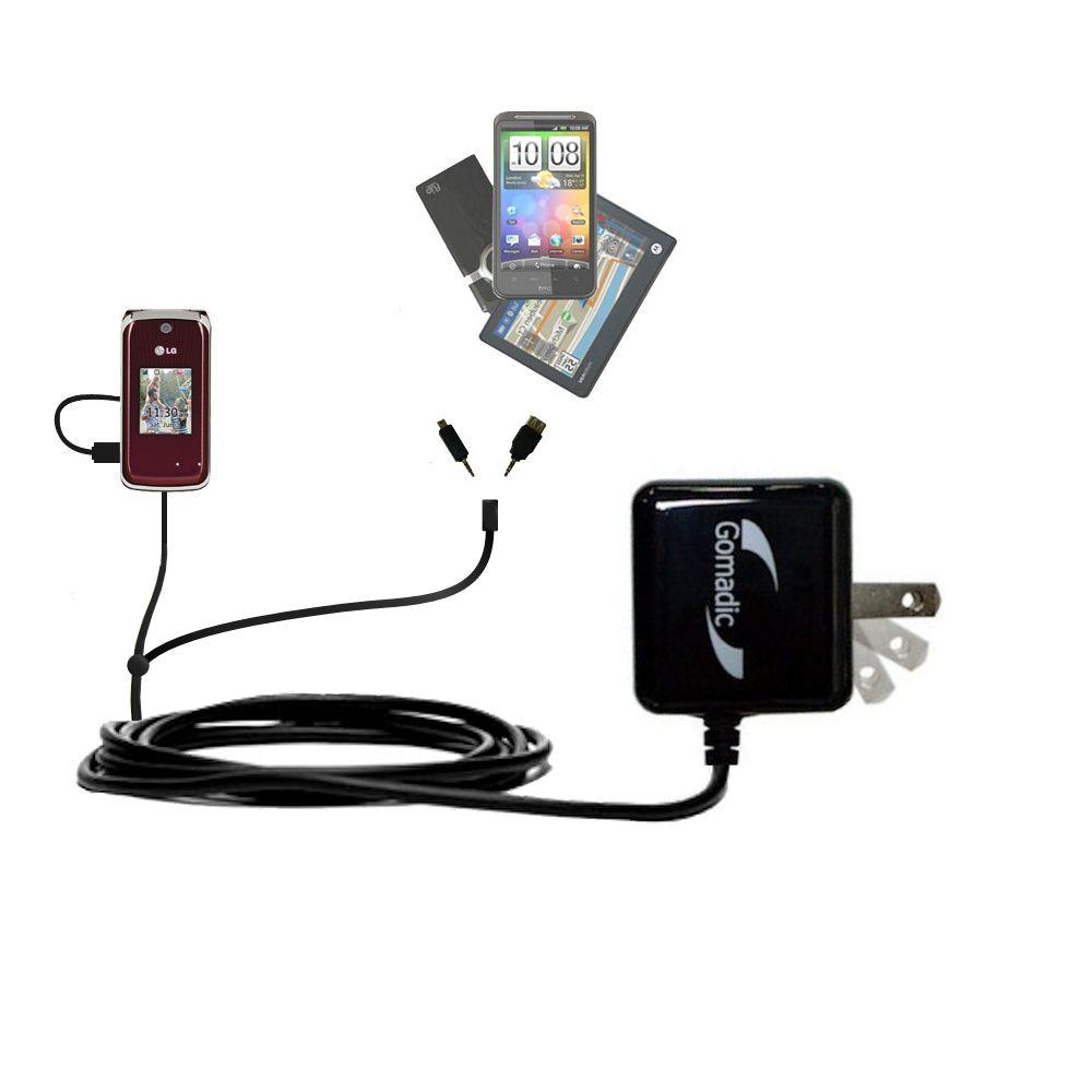 Double Wall Home Charger with tips including compatible with the LG Wine II