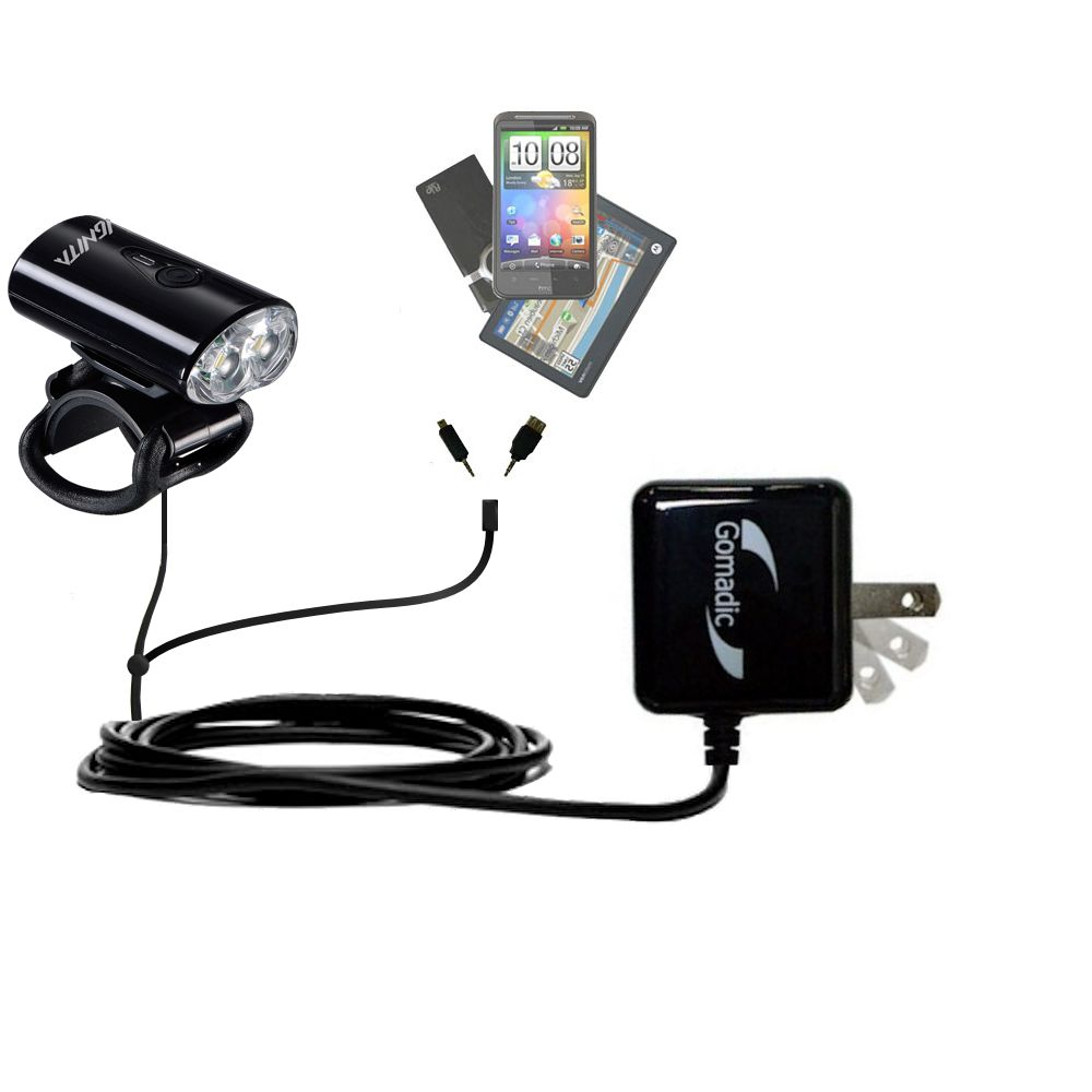 Double Wall Home Charger with tips including compatible with the MetroFlash IGNITA - MF-i650