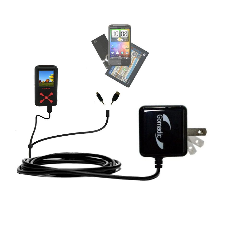 Double Wall Home Charger with tips including compatible with the Nextar MA715