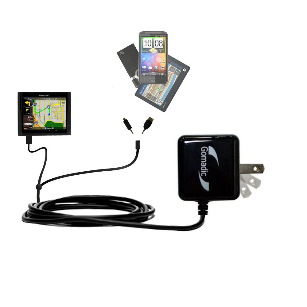 Double Wall Home Charger with tips including compatible with the Nextar ME