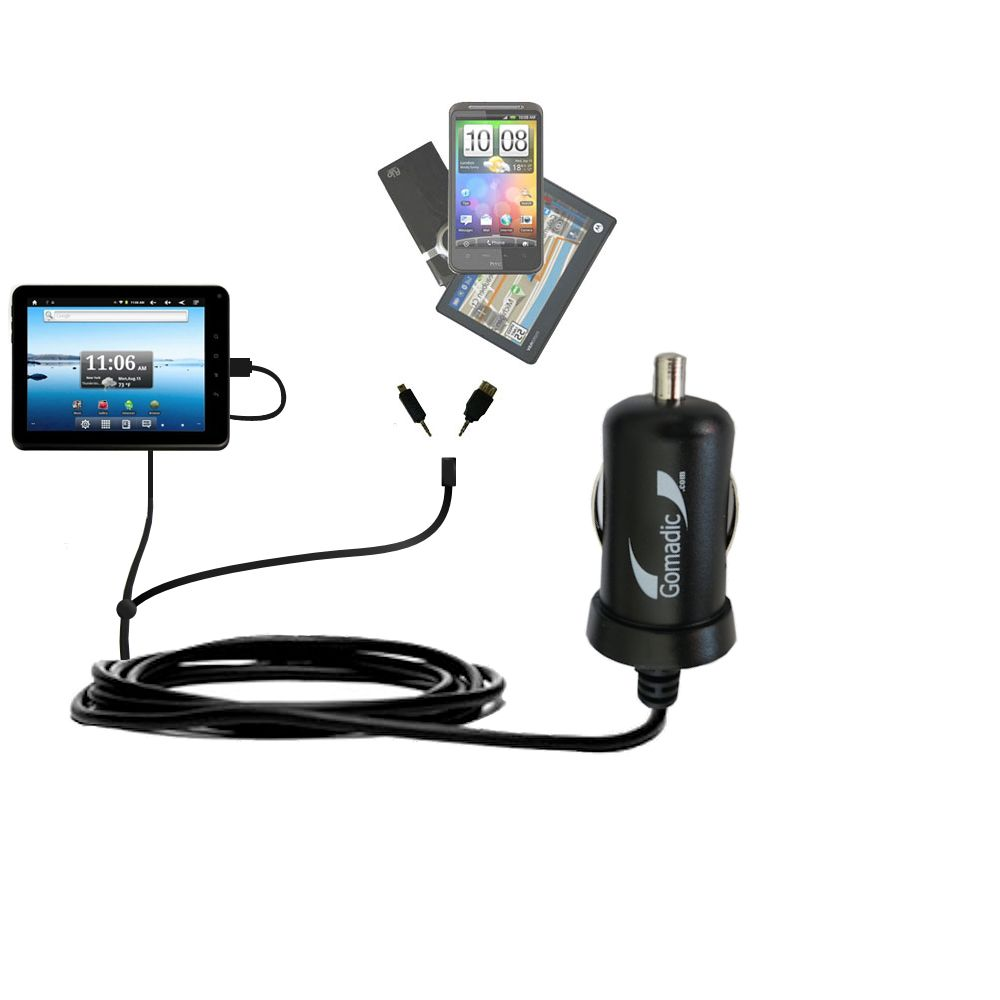 mini Double Car Charger with tips including compatible with the Nextbook Premium8 Tablet