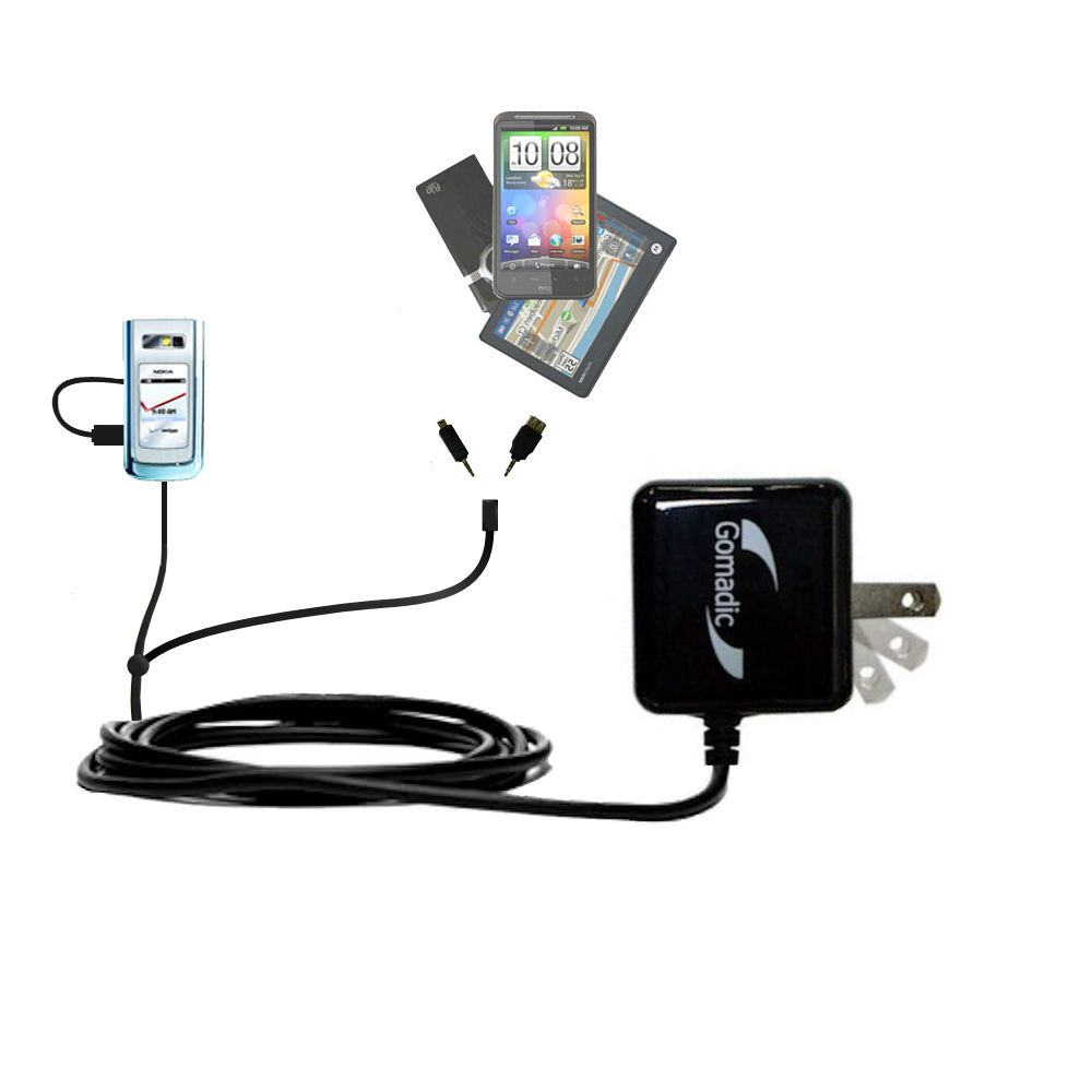 Double Wall Home Charger with tips including compatible with the Nokia 6205