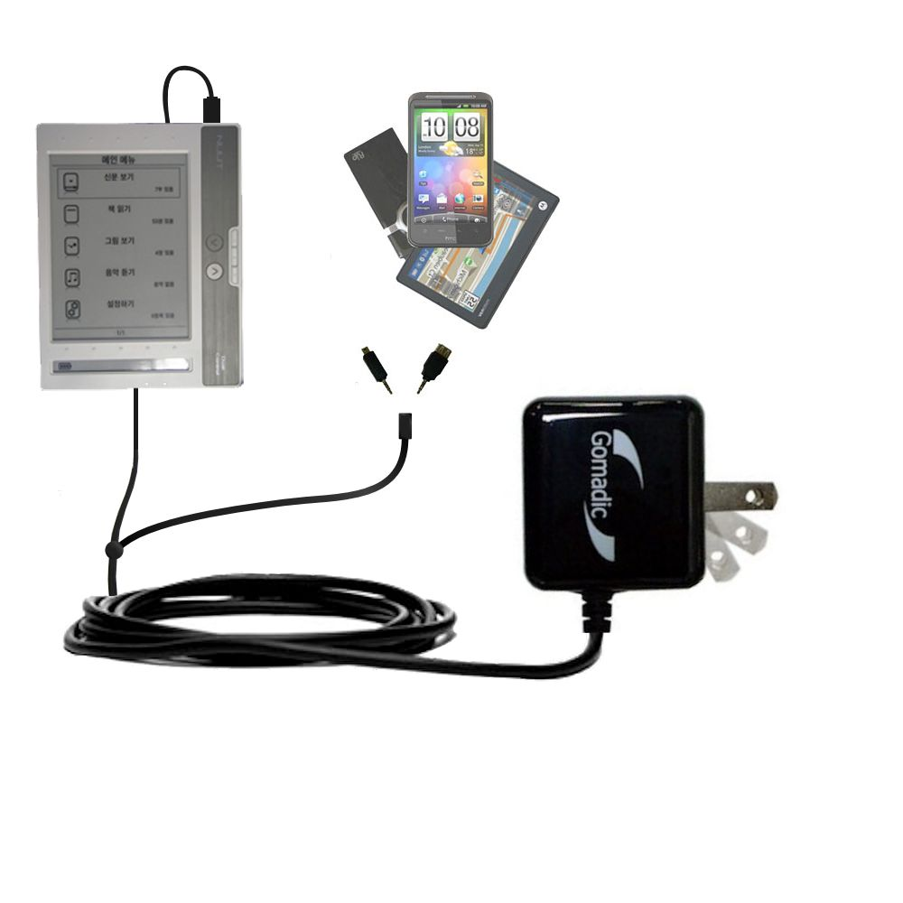 Double Wall Home Charger with tips including compatible with the NUUTbook NUUT2