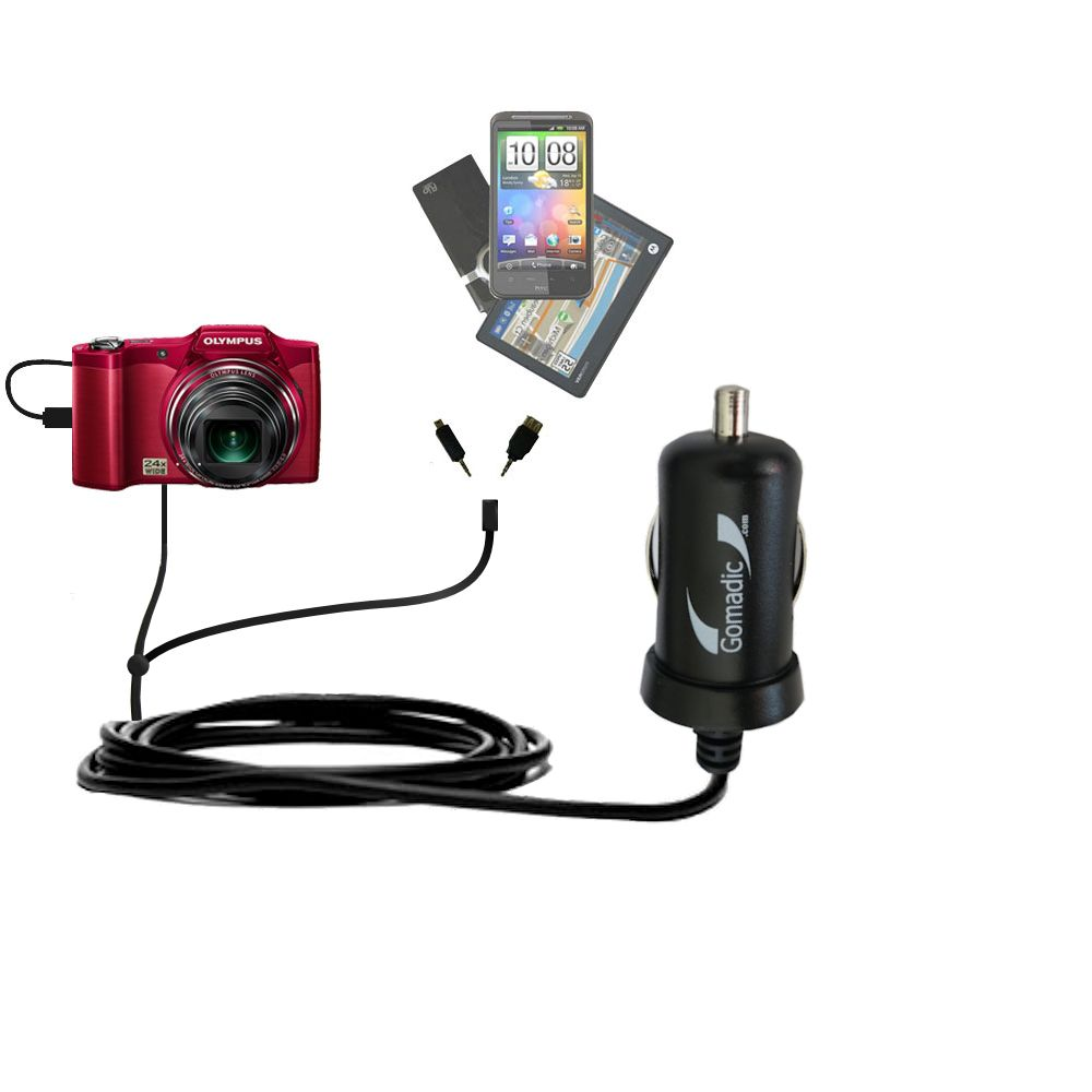 Quad 4-port wall charger with included tip for the Olympus SZ-12 a compact design with flip out prongs Uses TipExchange Technology to charge up to four devices simultaneously