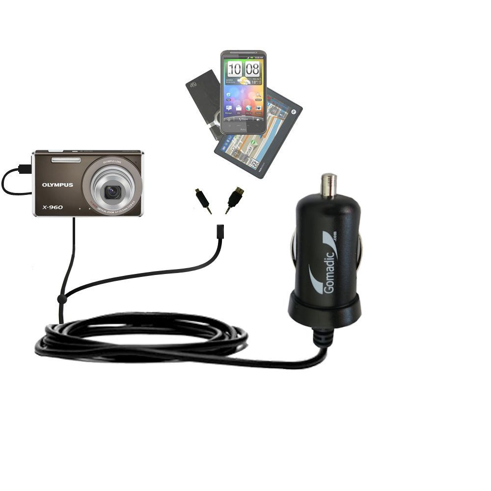 Built TipExchange Technology Charge and Data Sync with The Same Cable Gomadic Hot Sync and Charge Straight USB Cable for The Olympus X-940