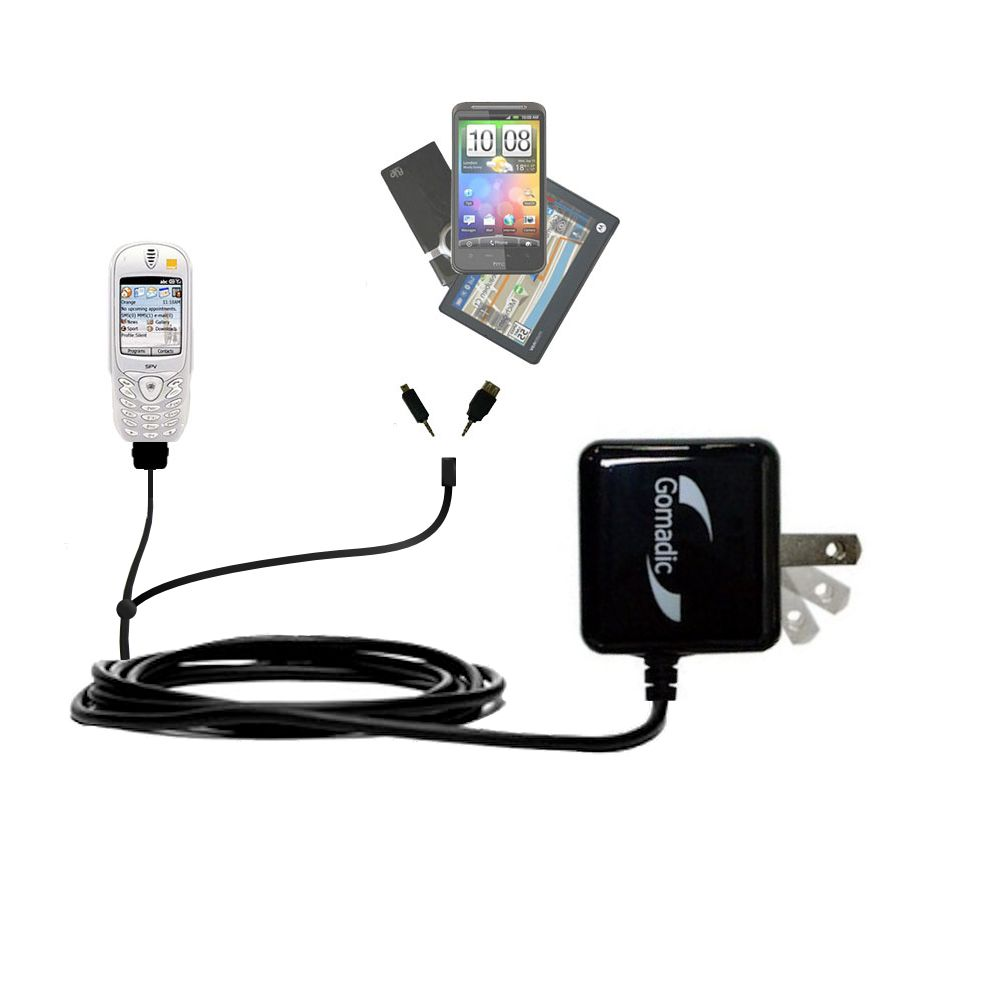 Double Wall Home Charger with tips including compatible with the Orange SPV Smartphone