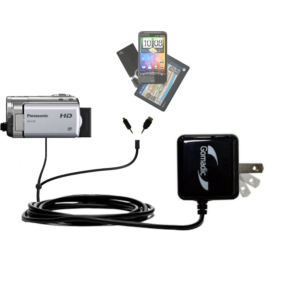 Double Wall Home Charger with tips including compatible with the Panasonic HC-V10