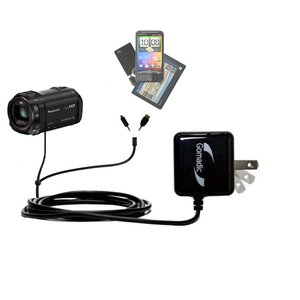 Double Wall Home Charger with tips including compatible with the Panasonic HC-V750 / V750
