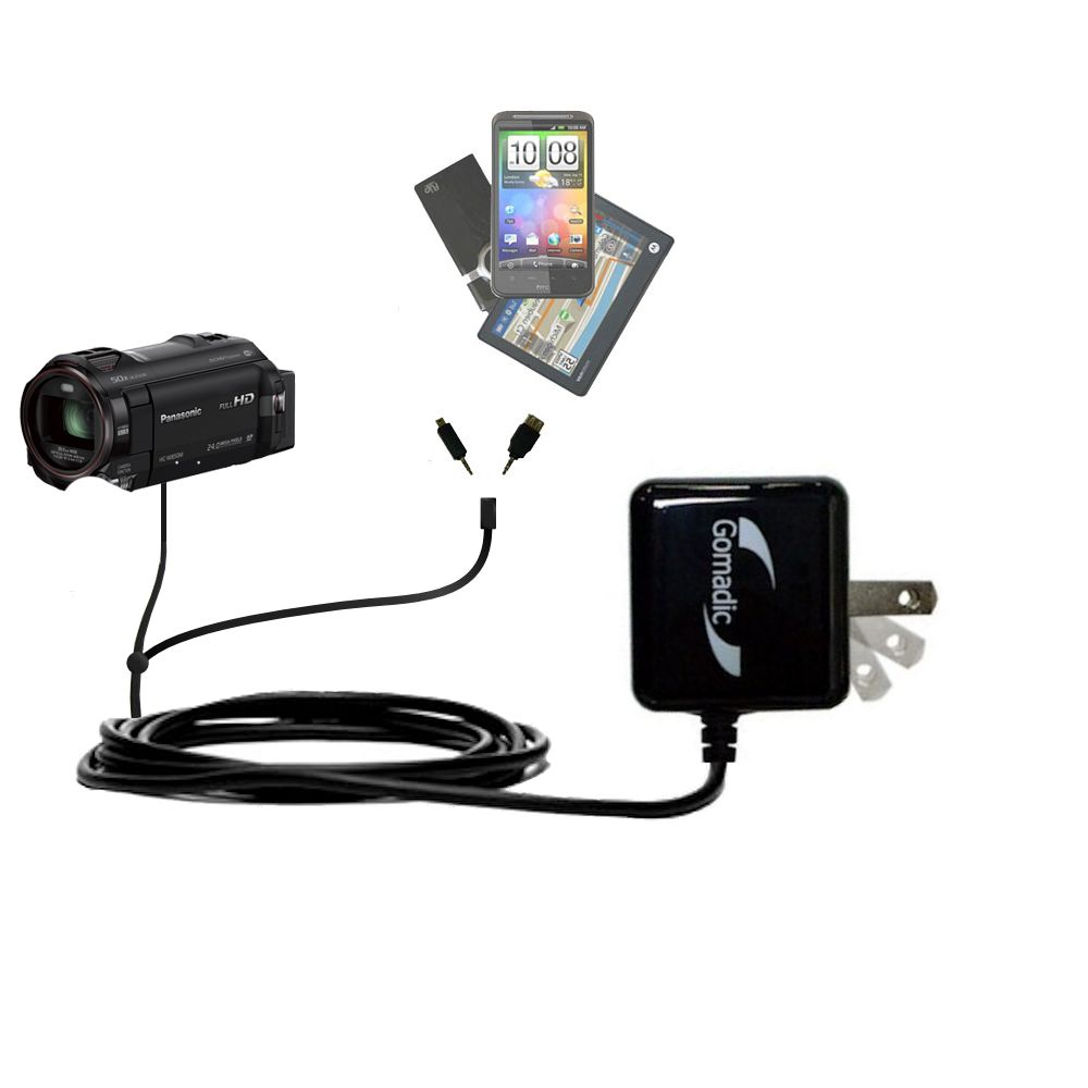 Double Wall Home Charger with tips including compatible with the Panasonic HC-W850 / W850