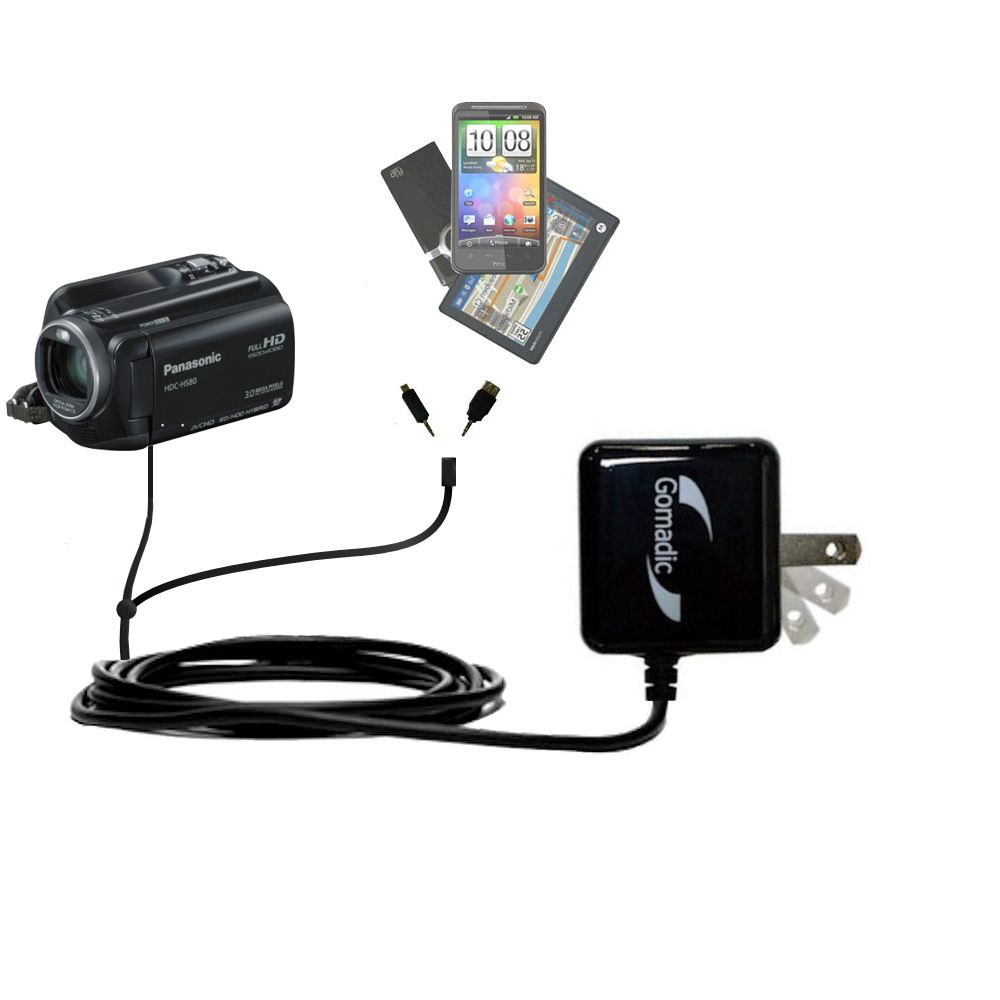Double Wall Home Charger with tips including compatible with the Panasonic HDC-HS80 Camcorder
