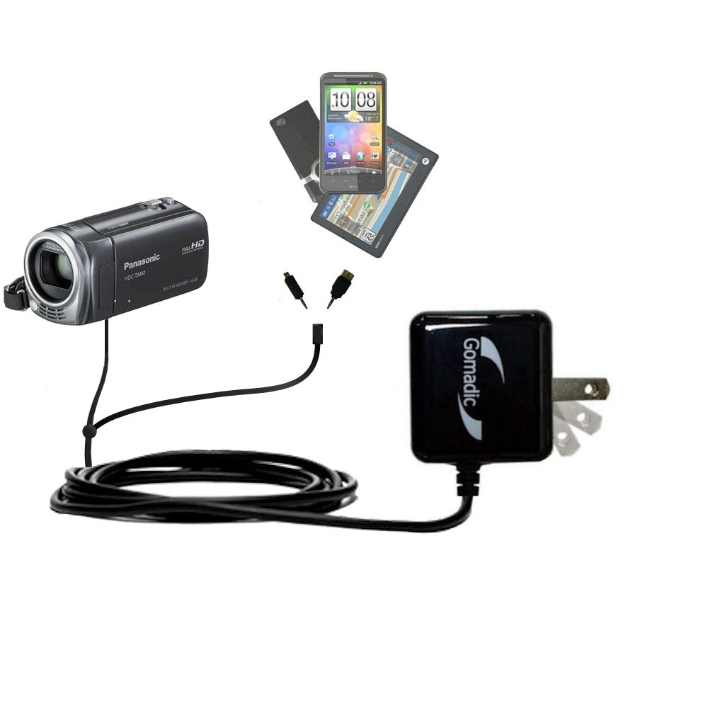 Double Wall Home Charger with tips including compatible with the Panasonic HDC-TM40 HDC-TM41