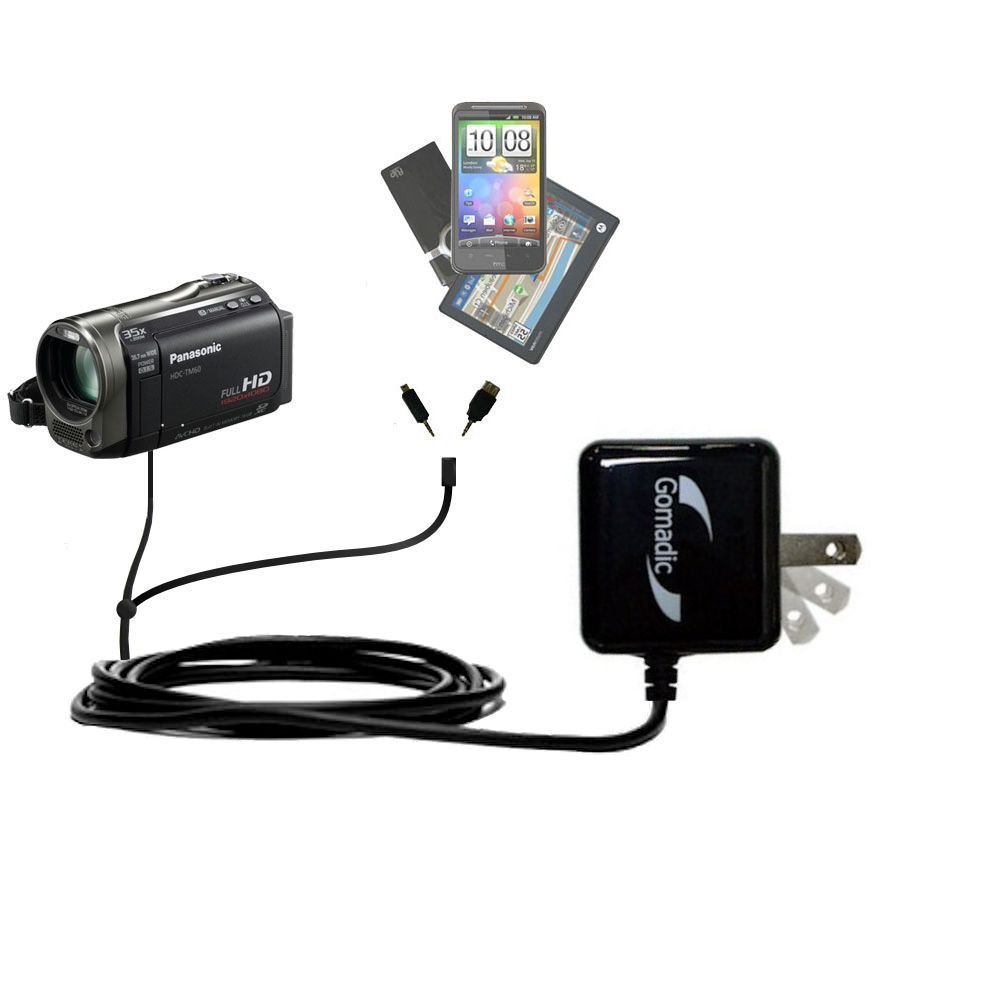 Double Wall Home Charger with tips including compatible with the Panasonic HDC-TM55 Video Camera