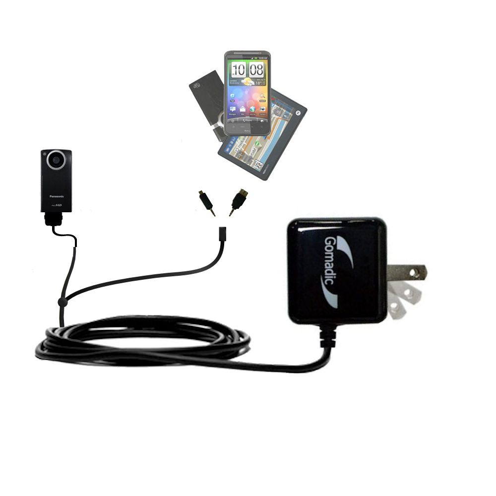 Double Wall Home Charger with tips including compatible with the Panasonic HM-TA1V Digital HD Camcorder