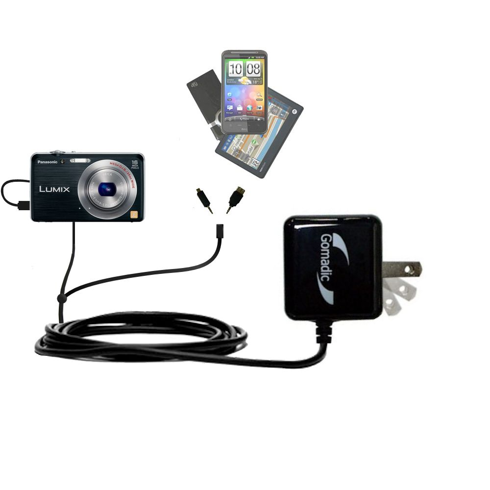 Double Wall Home Charger with tips including compatible with the Panasonic Lumix DMC-FH8K
