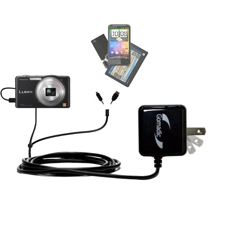 Double Wall Home Charger with tips including compatible with the Panasonic Lumix DMC-SZ1K
