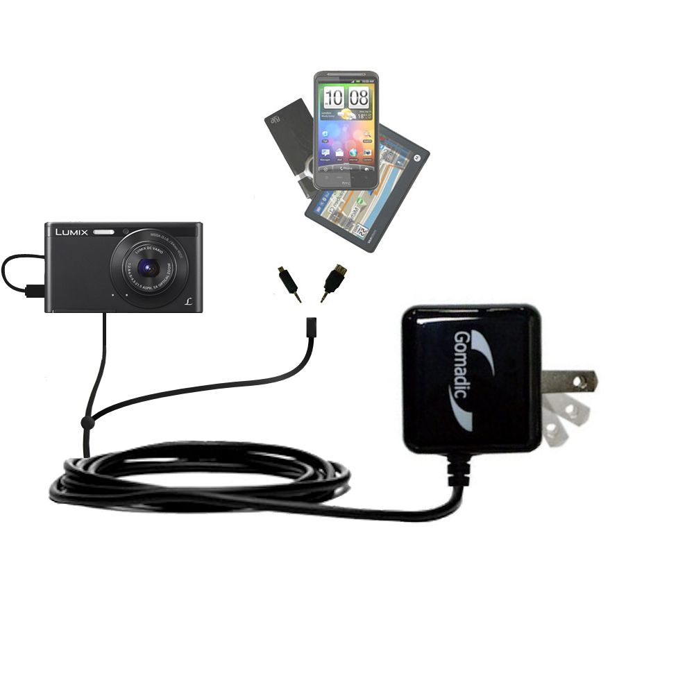 Double Wall Home Charger with tips including compatible with the Panasonic Lumix DMC-XS1K