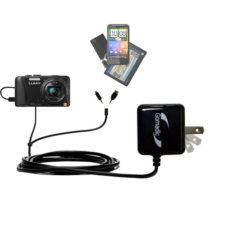 Double Wall Home Charger with tips including compatible with the Panasonic Lumix DMC-ZS25K