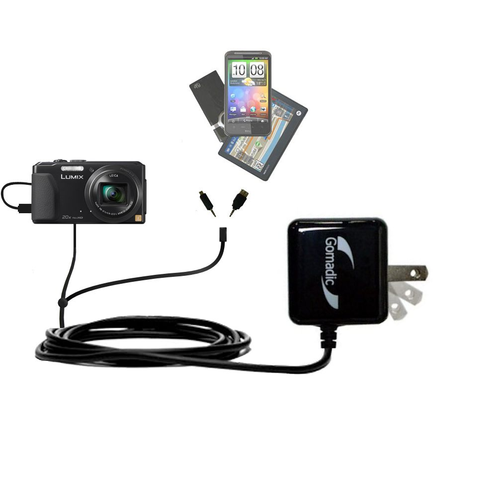 Double Wall Home Charger with tips including compatible with the Panasonic Lumix DMC-ZS30K