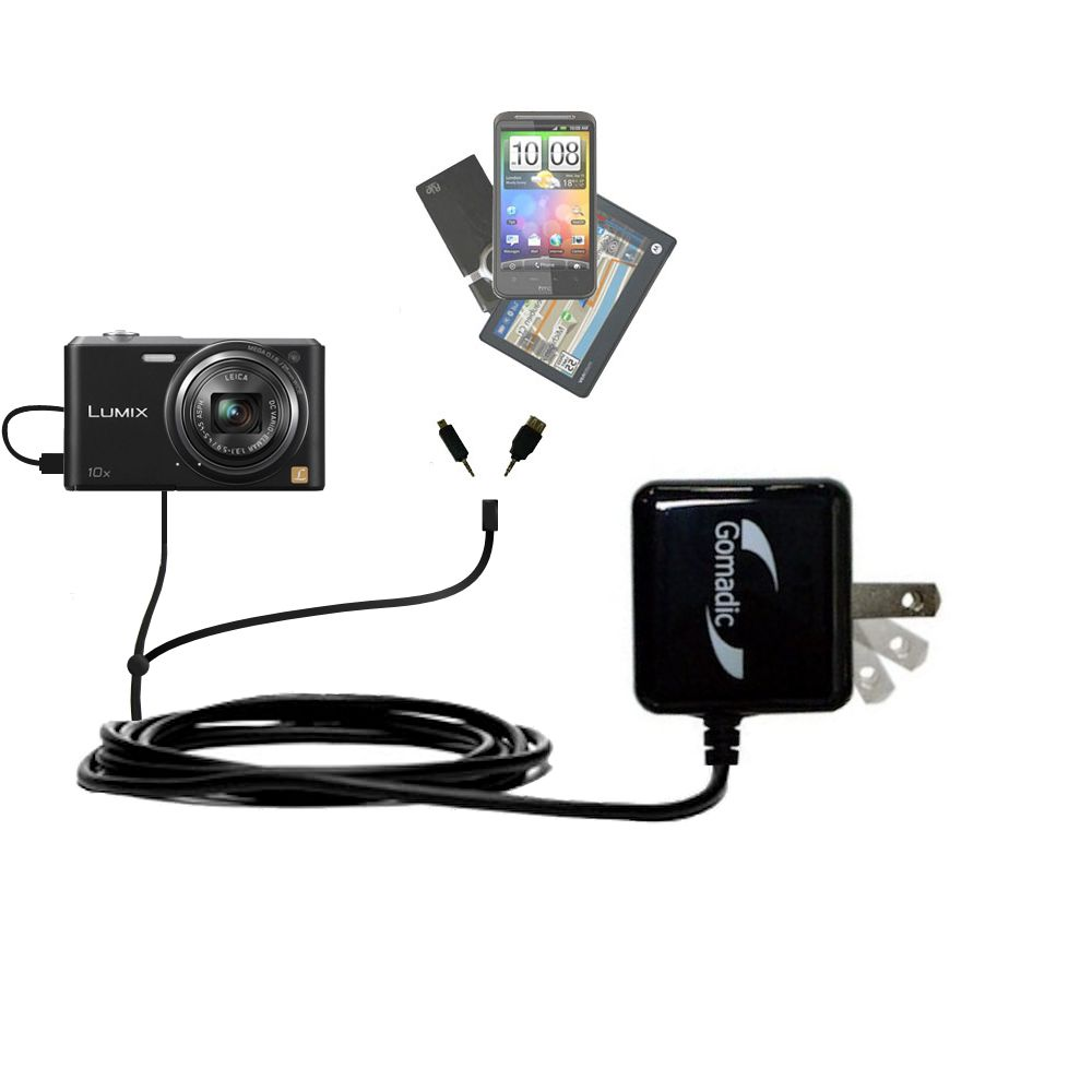 Double Wall Home Charger with tips including compatible with the Panasonic Lumix SZ3 / DMC-SZ3