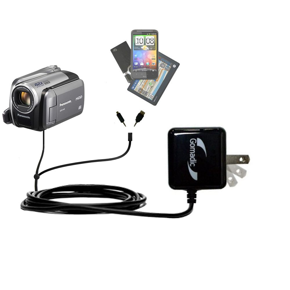 Double Wall Home Charger with tips including compatible with the Panasonic SDR-570 Camcorder