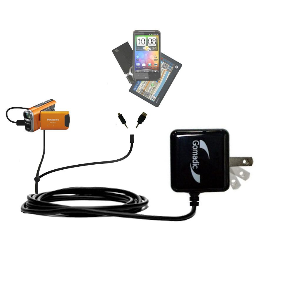 Double Wall Home Charger with tips including compatible with the Panasonic SDR-SW21 Video Camera