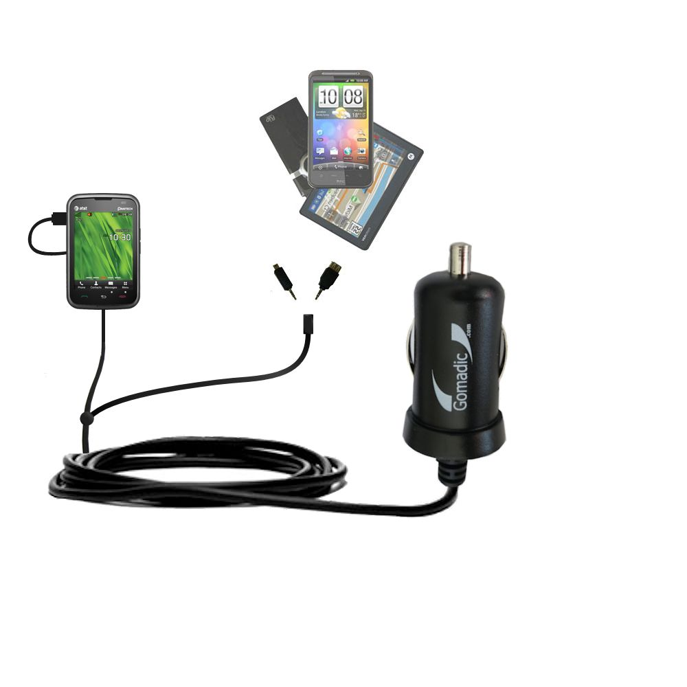 mini Double Car Charger with tips including compatible with the Pantech Renue