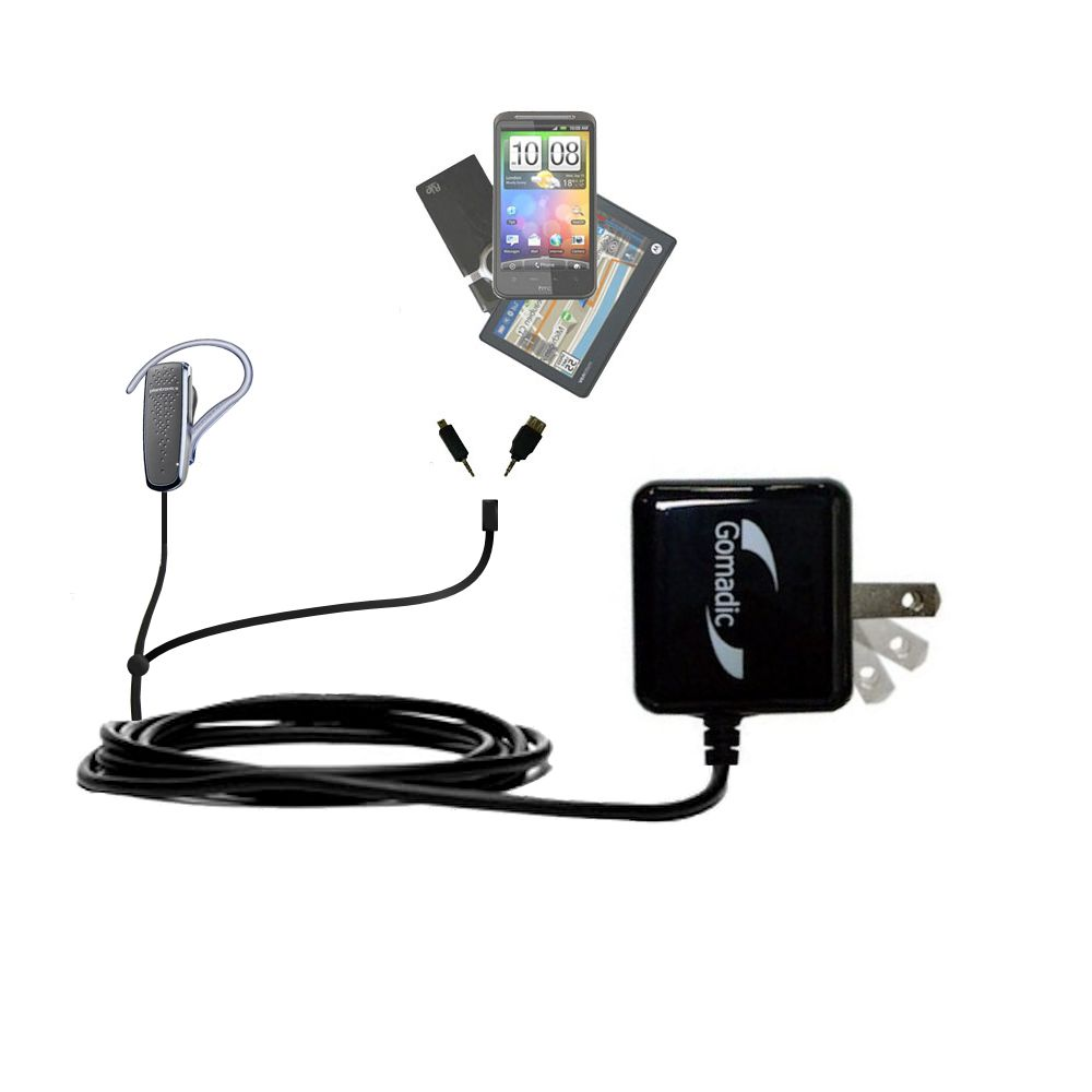 Double Wall Home Charger with tips including compatible with the Plantronics M50