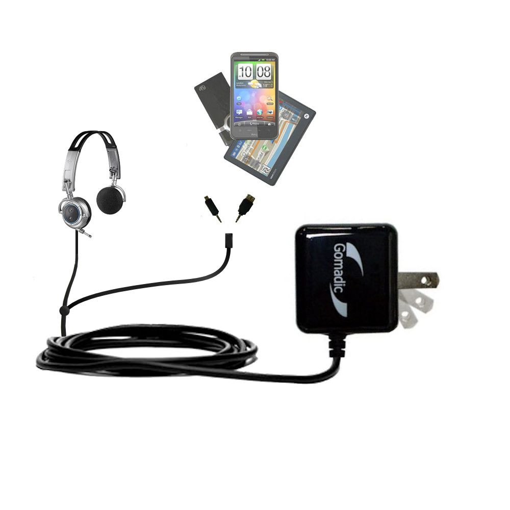 Double Wall Home Charger with tips including compatible with the Plantronics Pulsar 590E