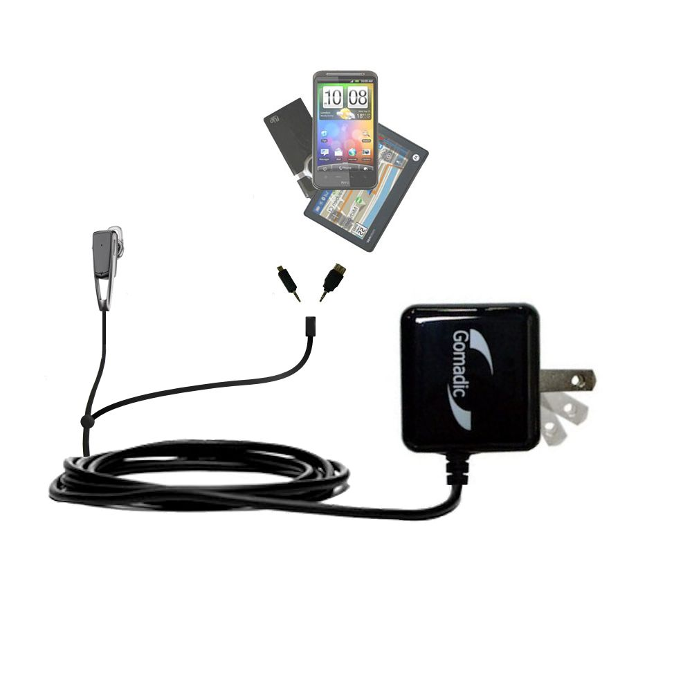 Double Wall Home Charger with tips including compatible with the Plantronics Savor M1100