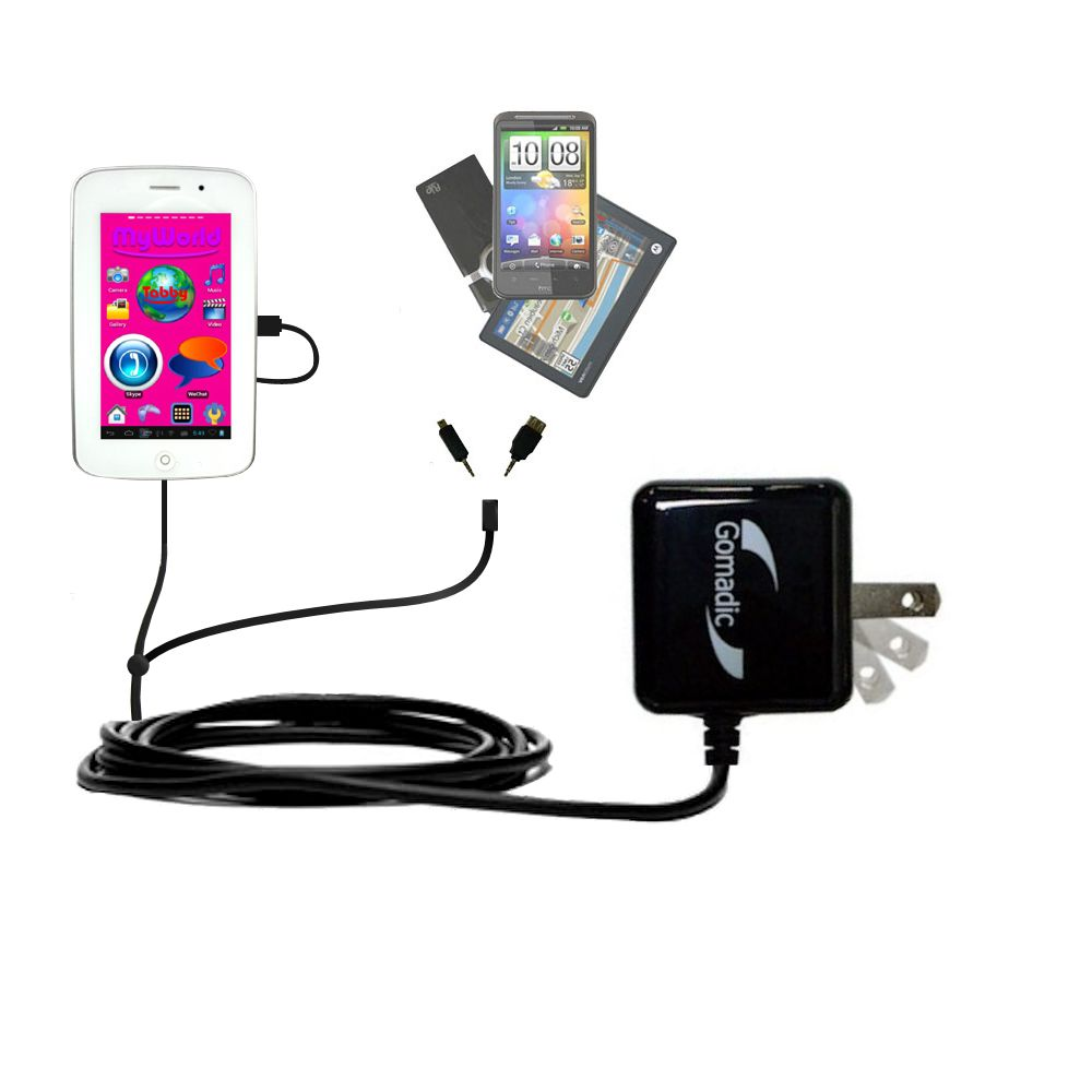 Double Wall Home Charger with tips including compatible with the Playtime MyWorld 43111