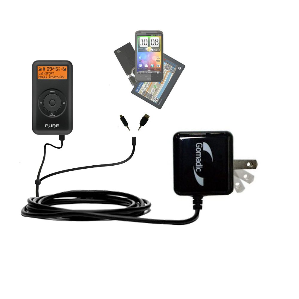 Double Wall Home Charger with tips including compatible with the PURE Move 2500