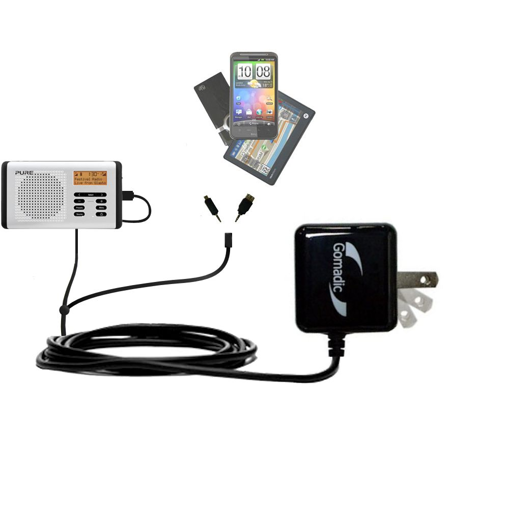 Double Wall Home Charger with tips including compatible with the PURE Move 400D