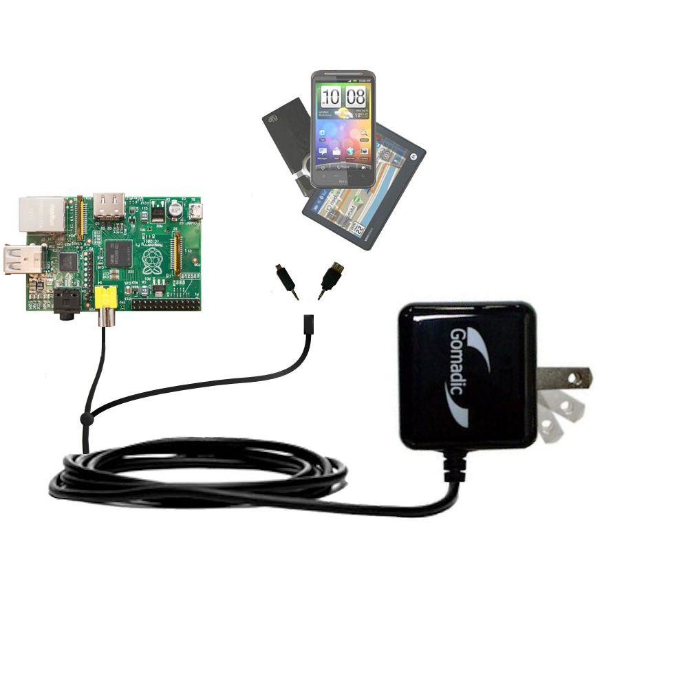 Double Wall Home Charger with tips including compatible with the Raspberry Pi Board