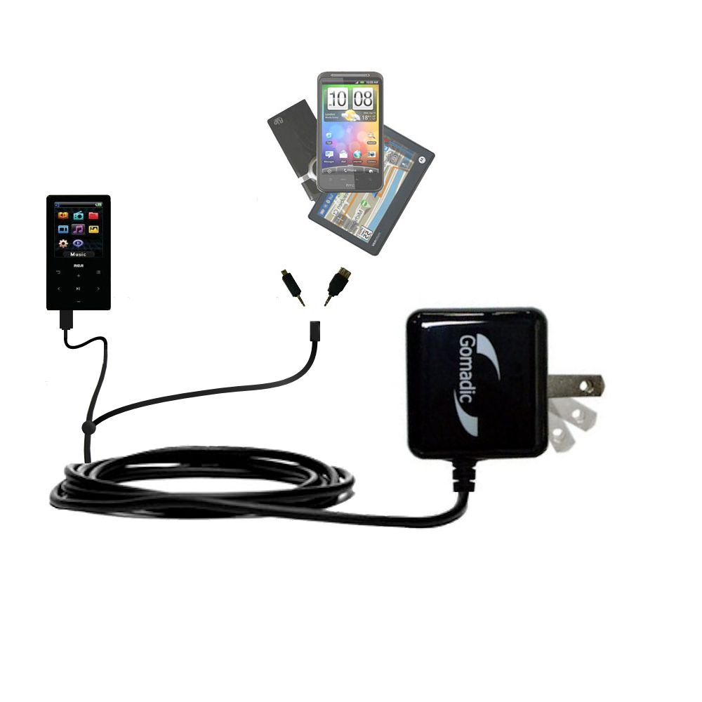 Double Wall Home Charger with tips including compatible with the RCA M6104
