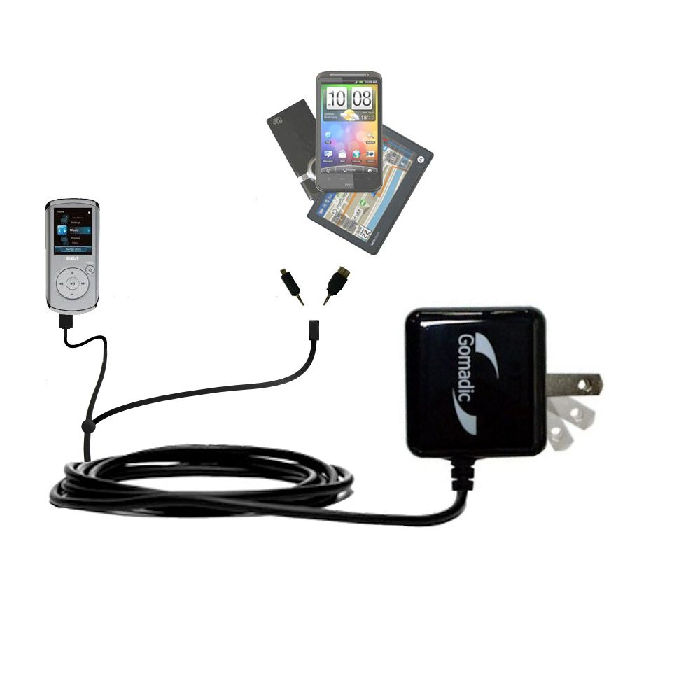 Double Wall Home Charger with tips including compatible with the RCA MC4208 OPAL Digital Media Player